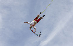 Ritual ceremony of the Voladores Flying Men Stock Image