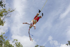 Ritual ceremony of the Voladores Flying Men Royalty Free Stock Photos