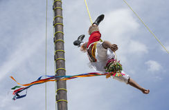 Ritual ceremony of the Voladores Flying Men Royalty Free Stock Images