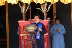 Ritual chino Fotos de archivo libres de regalías