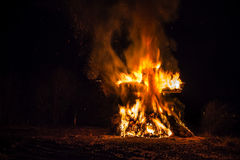 Ritual cross bonfire Luxembourg Stock Images