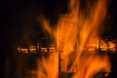 Ritual cross bonfire Luxembourg Stock Photography