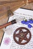 Ritual da mola de Wiccan - livro das sombras Fotografia de Stock Royalty Free