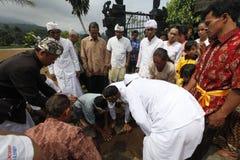 Ritual de Hindus Foto de archivo libre de regalías