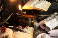 Ritual de la magia negra Fotografía de archivo libre de regalías