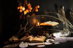 Ritual de la magia negra Foto de archivo