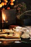 Ritual de la magia negra Imágenes de archivo libres de regalías