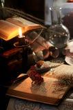 Ritual de la magia negra Foto de archivo libre de regalías
