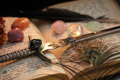 Ritual de la magia negra Imagen de archivo libre de regalías