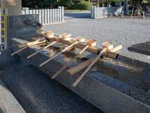 Ritual de limpeza de Temizuya, Hiroshima, Japão fotos de stock