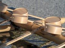 Ritual de limpeza de Temizuya, Hiroshima, Jap?o foto de stock