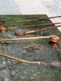 Ritual de limpeza de Temizuya fotos de stock
