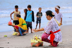 Ritual de Melasti - día de silencio Fotografía de archivo
