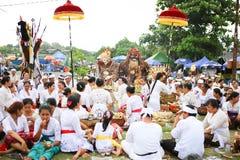 Ritual de Melasti - día de silencio Foto de archivo