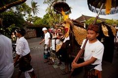 Ritual de Melasti en la isla de Bali Foto de archivo libre de regalías