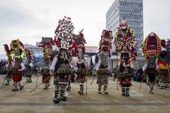 Ritual del búlgaro de la tradición de Surva Imagen de archivo libre de regalías