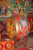 Ritual drum at the Dali Monastery, Darjeeling, India Royalty Free Stock Images