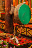 Ritual drum in Hemis monastery. Ladakh, India Stock Photo