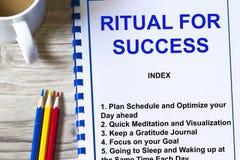 Ritual för framgång arkivfoto