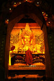 The ritual of daily face washing Mahamyatmuni Buddha. Stock Photography