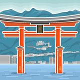 The ritual gates in Japan. The image of ritual gates in Japan Royalty Free Stock Image