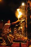 Ritual hindú del fuego Fotos de archivo libres de regalías