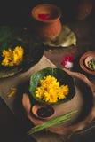 Ritual hindu religioso da manhã Imagem de Stock