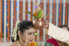 Ritual in Indian Hindu wedding Stock Photography