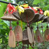 Ritual jewelry of local tribes. Tropical Park Yanoda, China Royalty Free Stock Photography