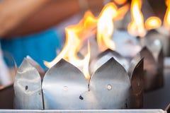 A ritual making at thai temple Stock Photos