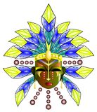 Ritual mask. Image representing an old America stylized ritual mask vector illustration