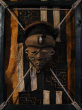 Ritual mask. Exhibition Black Africa. Ritual objects tribes of wild Africa Stock Photography