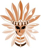 Ritual mask from south america isolated Royalty Free Stock Photography