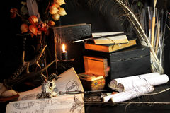 Ritual negro de la magia de la vela fotos de archivo libres de regalías