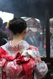 Ritual of purification - Maiko in Asakusa Royalty Free Stock Photography