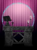 The Ritual Room. A room in a witches home of an altar with ritual tools Stock Image