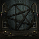 Ritual space with Pentagram. 3D rendering background ritual space with Pentagram Royalty Free Stock Images