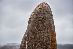 Ritual stones for sacrifices to the gods. The Ukok Plateau Of Al. Tai. Fabulous cold landscapes. Anyone around Stock Image