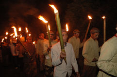 Ritual torch Stock Photos