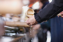 Ritual of washing hands Stock Image