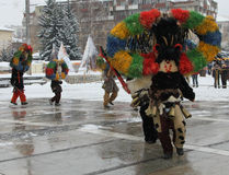 Rituale bulgaro tradizionale di Kukeri Immagine Stock Libera da Diritti