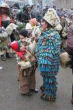 Rituale bulgaro tradizionale di Kukeri Fotografia Stock