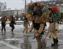 Rituale bulgaro tradizionale di Kukeri Immagini Stock Libere da Diritti