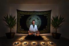 Rituale di meditazione fotografie stock libere da diritti