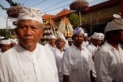 Rituale di Melasti sull'isola del Bali Fotografia Stock Libera da Diritti