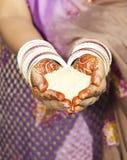 Rituale indiano di cerimonia nuziale Fotografie Stock