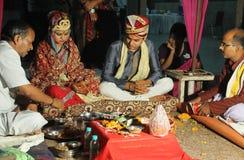 Rituale indiano di matrimonio Immagini Stock