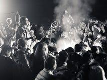 Rituale maya del fuoco Immagini Stock