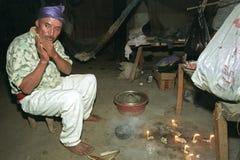 Rituale religioso del sacerdote dell'indiano di Ixil del guatemalteco Fotografia Stock Libera da Diritti