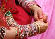Rituales hindúes de la boda Imagen de archivo libre de regalías